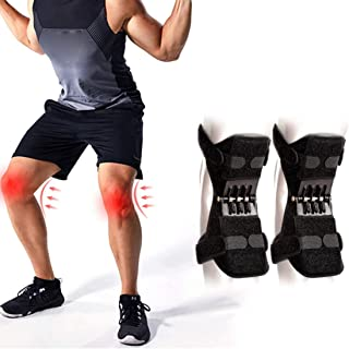 JUSHOOR Knee Protection Booste Pads Lift Joint Support Powerful Spring Force Old Cold Leg Protection Reinforcement Deep Care