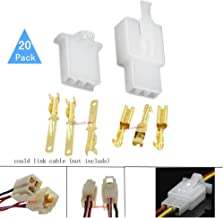 Lsgoodcare 2.8MM 3Pin Way Automotive Electrical Wire Connector Male Female Cable Terminal Plug Kits for Motorcycle Bike Car-Pack of 20