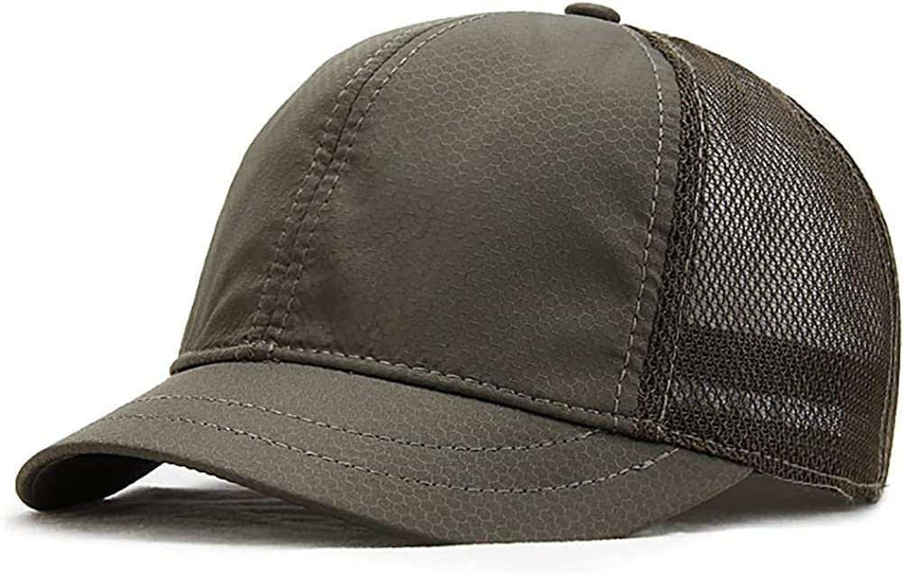 Gudessly Sports Cap Short Brim Sun Hat for Men and Women Baseball Hat Quick-Drying Mesh Breathable Sunshade hat
