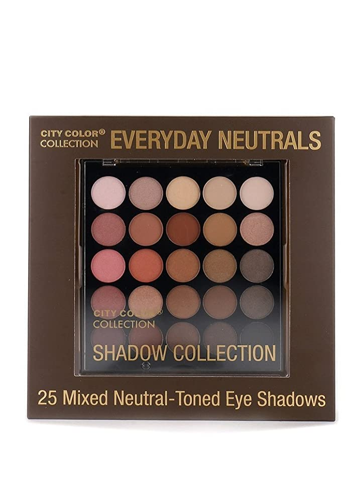 所持腐敗調停するCITY COLOR Collection Everyday Neutrals Eye Shadow Palette (並行輸入品)