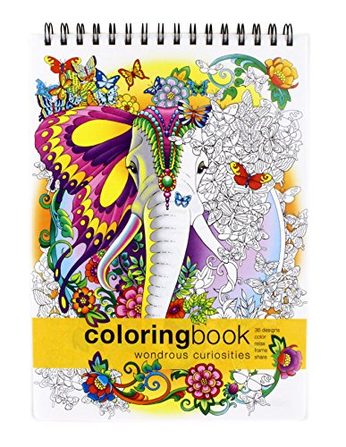 Action Publishing Coloring Book: Wondrous Curiosities· Unique and Imaginative Fantasy Creatures for Stress Relief, Relaxation and Creativity · Large Topbound (8.6 x 11.75 inches)