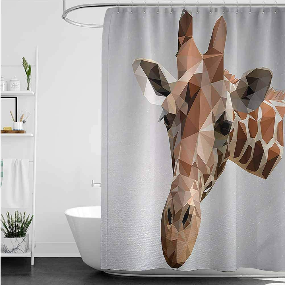 Interestlee Animal Farmhouse Shower 在庫限り Curtain Wildlife Cre Safari ついに入荷