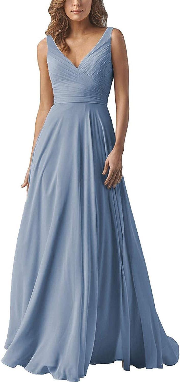 Elegant V Popular products Neck Bridesmaid Dresses Long Ranking TOP16 Dress Pro Evening Chiffon