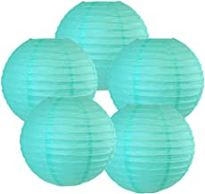 "Just Artifacts 10"" Turquoise Chinese Japanese Paper Lanterns (Set of 5) - More Colors & Sizes!"