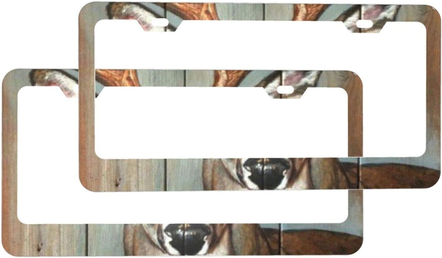 Car License Plate Frame 2 Pack Without overseas Rustic O Deer ...