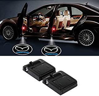 Wireless Car Door Led Welcome Laser Projector for Mazda,No Drill Type Logo Light