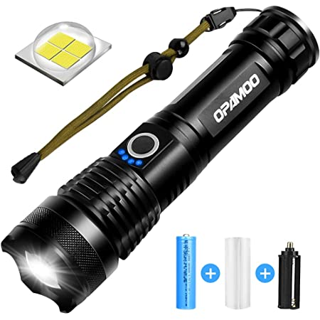 LED Flashlight Super Bright Tactical 5 Mode Zoomable rechargeble Flashlight