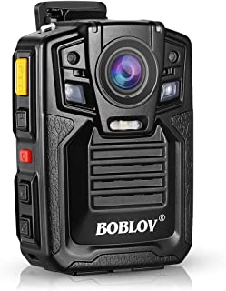 Body Worn Camera with Audio, BOBLOV 1926P Police Body Cameras for Law Enforcement, Security Guard, Waterproof Body Mounted Cam DVR Video IR with Night Vision, 170° Wide Angle (Built in 64GB, GPS)