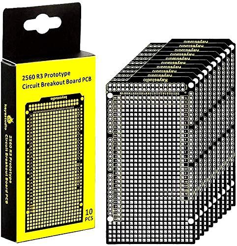 KEYESTUDIO PCB Board Lochrasterplatte Lochrasterplatine Leiterplatte für arduino und Elektronik projekte (10PACK)