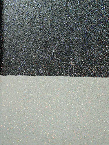 Glitter Lasaur, Effektfarbe, Metallic Farbe, Wandfarbe, Wand-Farbe, Glitzer Wandfarbe, Farbe mit Glitzer, Glitzereffekt, Glitzer Effekt, Glitter (Silber Hologramm)