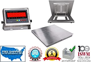 "5`x5` (60""x60"") Stainless Steel Floor Scale & Indicator 