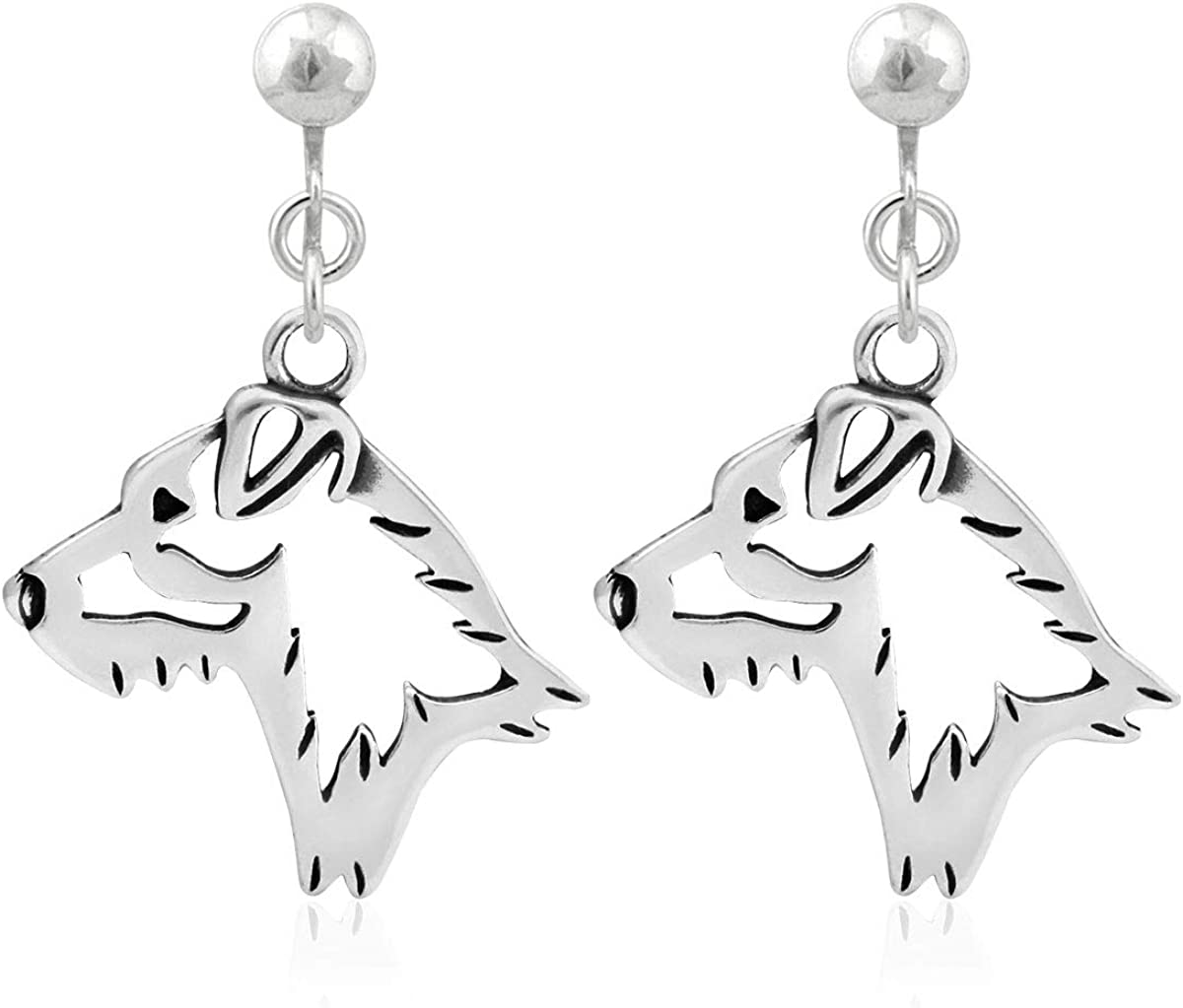 Sterling Silver Parson Russell Reservation Terrier Coat At the price of surprise Earrings Broken He