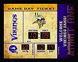 Team Sports America Bluetooth Scoreboard Wall Clock Minnesota Vikings, Team Color, 23...