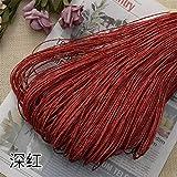Hilo de Paja de Rafia Crochet para Tejer DIY Sombrero de Paja de Verano Bolsos Cojines Cestas Material Hilo 500 g/Lote, Rojo
