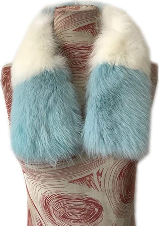Gegefur Women's Real Fox Fur Winter Collar Scarves Scarf Warmer