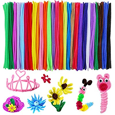 Caydo 324 Pieces Pipe Cleaners 27 Colors Chenille Stems for DIY Art Creative Crafts Decorations (6 mm x 12 Inch) by Caydo