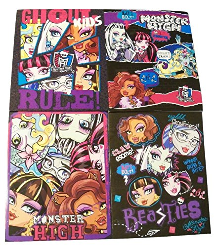 Monster High 4 Folder Set ~ Ghoul Kids Rule, Scary Licious, Monster Collage, Beasties