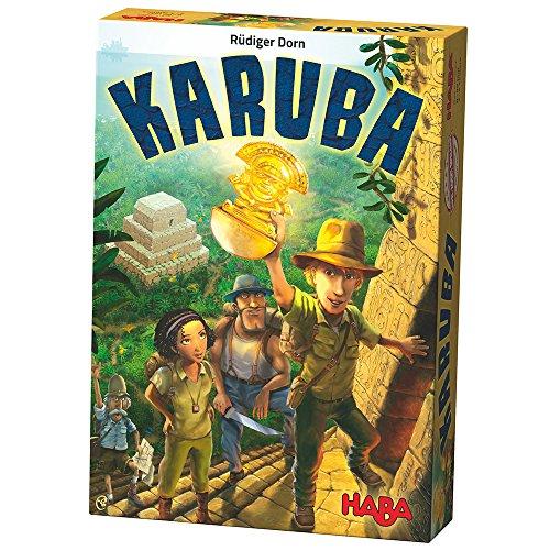 Haba 300932 - Karuba, Strategie- und Brettspiel für die ganze Familie, ein fesselndes Legeabenteuer für 2-4 Schatzjäger ab 8 Jahren