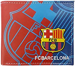 ZQfans Football Club Wallet Soccer Team Logo Printed Wallet Unisex PU Leather Wallets for Football Fans (Barcelona, 4.33