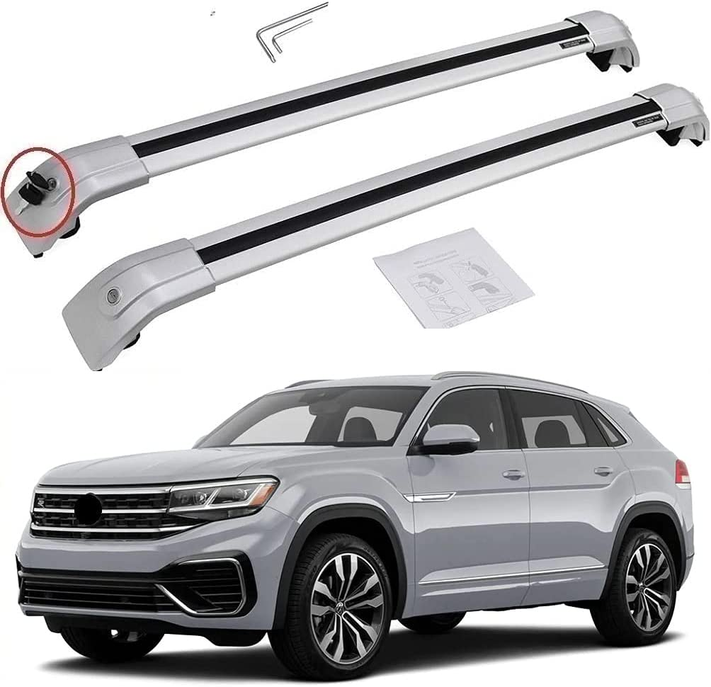 Silver roof Cargo Racks bar for VW Cross Atlas Super Special SALE held Sport Spring new work one after another Volkswagen