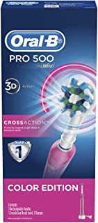 Oral-B Cross Action PRO 500 Edition Electric Toothbrush, Pink