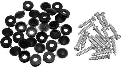 100 / SET M5 PHILLIPS ZELF TAPPING-schroef met scharnierende afdekkappen (Color : Black)