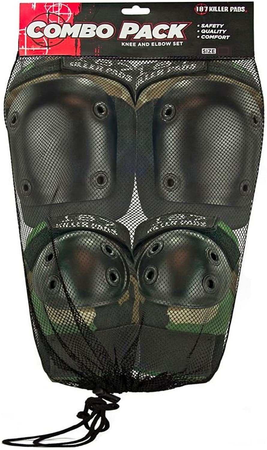 187 Killer Pads Camo Knee & Elbow Pad Set  XSmall