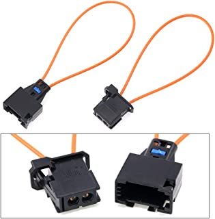 Glarks 2Pcs Fiber Most Optical Optic Loop Bypass Male and Female Adapter For Radio and Audio Mercedes Benz, Audi, VW, Porsche