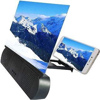 Goeco Schermo 3D da 10 Pollici Schermo del Telefono Cellulare Lente d'Ingrandimento, Amplificatore Video HD Rack di Estens...