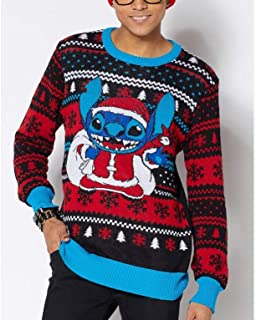 Disney Lilo & Stitch Ugly Christmas Sweater for Men and Women Santa Stitch Christmas 90's Novelty Sweater