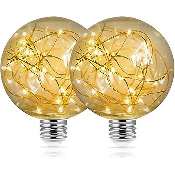 3W 25W Equivalent E26 PaperLanternStore.com LED Fairy A80 A-Style Edison Shatterproof Light Bulb