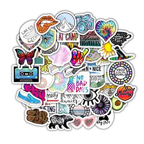 BLOUR 10/30/50 Uds Dibujos Animados Coloridos Lindo pequeño Personalidad Fresca Equipaje portátil decoración Graffiti Pegatina decoración al por Mayor