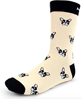 Urban-Peacock Men's Novelty Socks - Dogs & Cats - Multiple Colors/Multi-Pair Options