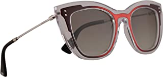 Valentino VA 4031 Sunglasses Transparent Red Matte Marc w/Green Gradient Lens 50mm 50728E VA4031S VA4031/S VA4031