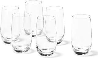 Leonardo Tivoli Trink-Gläser, spülmaschinenfeste Wasser-Gläser, Trink-Becher aus Glas im modernen Stil, 6er Set, groß, 390 ml, 020965
