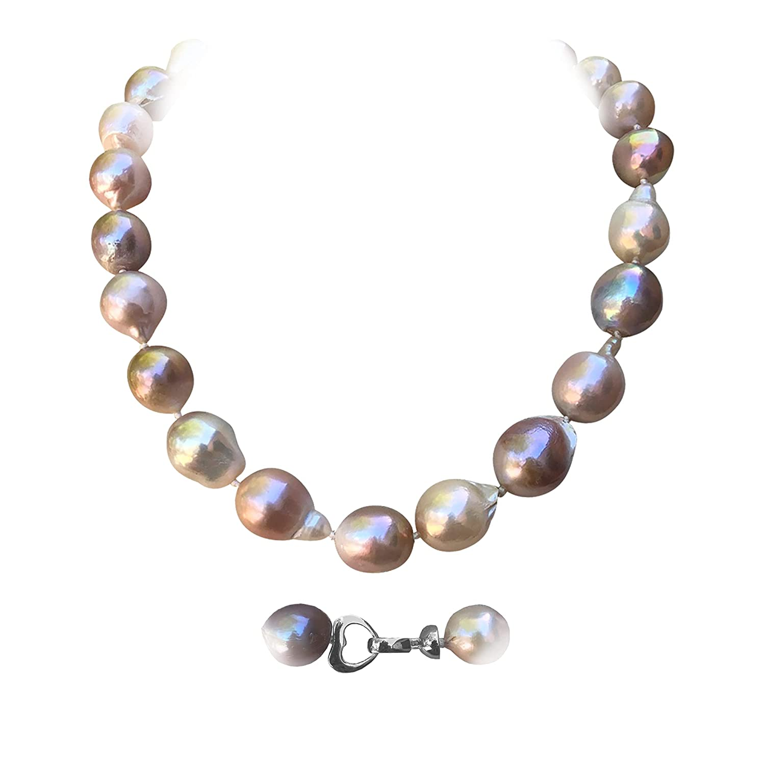 Large Baroque Cultured Pearls Multi-co Necklace 15-25MM Natural Manufacturer Cheap mail order specialty store direct delivery