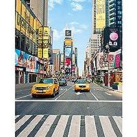 タイムズスクエアニューヨークサイズ15 x 2 1mのタクシー付きの新しい写真スタジオビニール