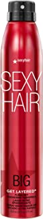 SexyHair Big Get Layered Flash Dry Thickening Hairspray, 8 Oz | Buildable Texture, Volume and Shine | Up to 72 Hours of Hu...