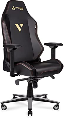 Gaming Chair 350 lb Weight Capacity Big and Tall High Back Computer Office Ergonomic Racing Chair Reclining Chairs with 4D Armrests Swivel Tilt Rocker Seat Height Adjustment Black GTRACING
