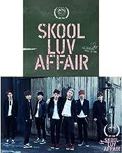 BTS (Skool LUV Affair) 2nd Mini Album Bangtan Boys CD+Photobook+Photocard+Gift (Extra BTS 6Photocards and 1Double-Sided Photocard Set)
