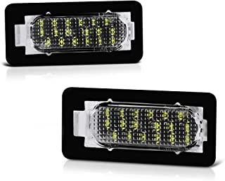 VIPMOTOZ Full LED License Plate Light Lamp Assembly Replacement Pair For 2014-2019 Toyota Corolla Sedan - 6000K Diamond White,  2-Piece Set
