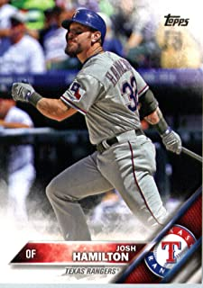 2016 Topps #341 Josh Hamilton Texas Rangers Baseball Card