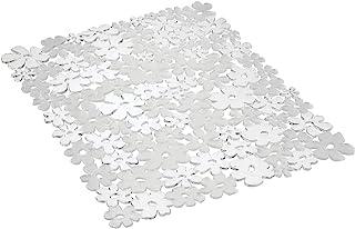 InterDesign Blumz Alfombrilla para fregaderos de Cocina, Gran Protector de Fregadero en plástico PVC, Transparente