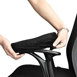 Almohadillas de Reposabrazos de Silla de Oficina con Espuma de Memoria,Cómodas sillas de juego reposabrazos y Almohada de codo  para alivio de presión de codos y antebrazos (Juego de 2)