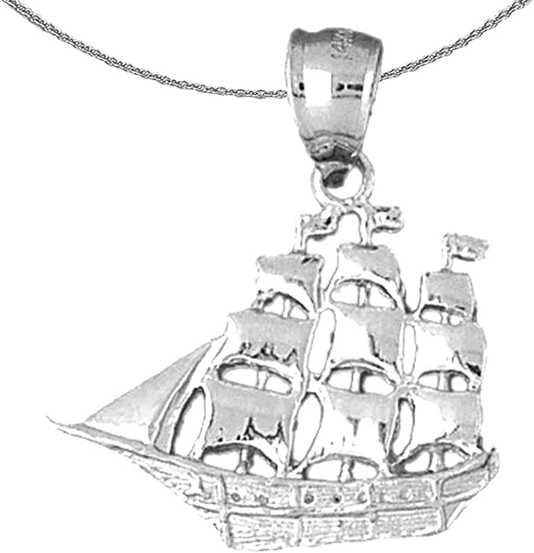 Jewels Obsession Silver Pirate quality assurance Necklace Rhodium-plated quality assurance Ship 92