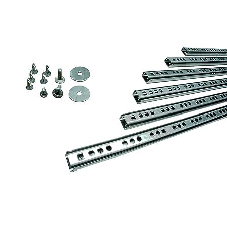 Tragkraft 17 kg//Paar 250 mm L Kugellager mit Stahlk/äfig| Schubladenschienen 10 ST/ÜCK Teilauszug Rollenauszug Kugelf/ührung H 27