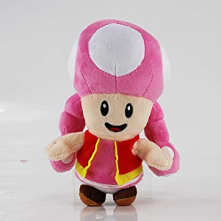 Juyo Mushroom Pink Toadette Plush Toad Doll,Size:7 inch.