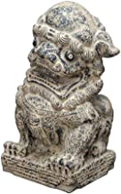 Lion Statue and Base, Large Stone Garden and Home Decoration Lion,Chinese Feng Shui Decor,Lion