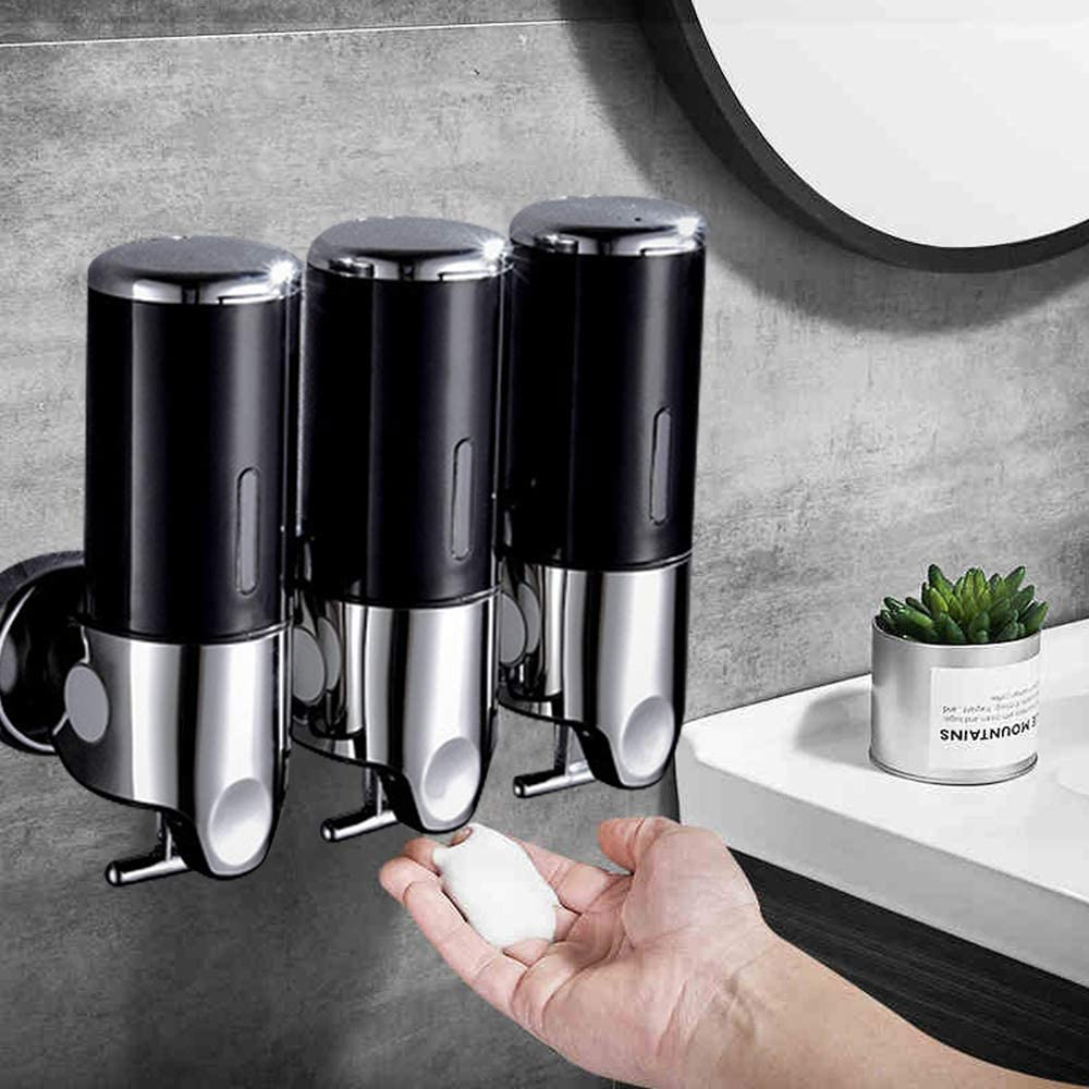 DYRABREST Jacksonville Mall 3x500ML Wall Super special price Mounted Soap Stainless Dispenser Steel Ba