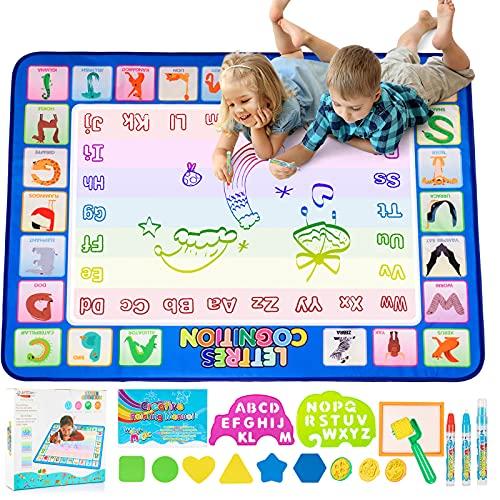 Doodle Tappeto Magico, Disegno Magico Mat,Acqua Disegno di Doodle Scribble Boards- Educativo Regalo per Bambini